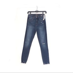 ABERCROMBIE AND FITCH HIGH RISE ANKLE CUT JEANS